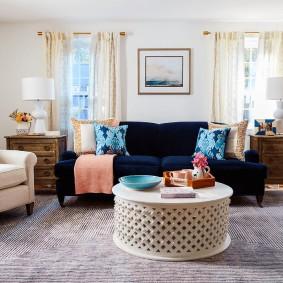 Подбор мягкой мебели для гостиной комнаты