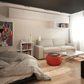 Темный потолок в квартире площадью 14 кв метров