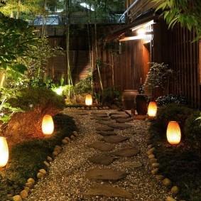 Садовые светильники с вытянутыми плафонами