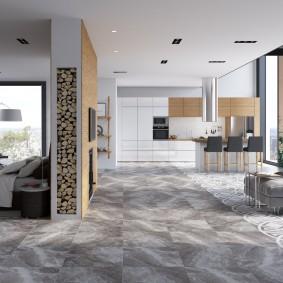 Интерьер квартиры студии в современном стиле