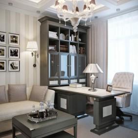 Серая мебель в неоклассическом стиле
