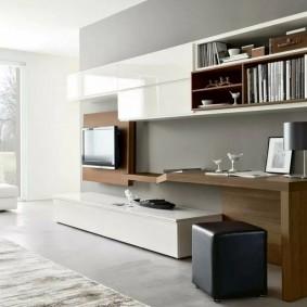 Современная мебель с белыми фасадами