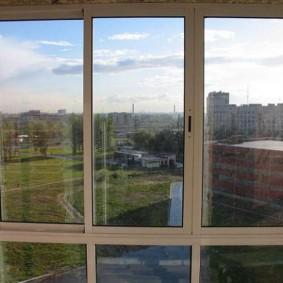 Панорамное остекление раздвижными окнами