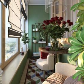 Дизайн балконного пространства с комнатными цветами