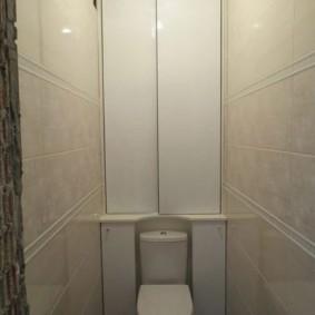 Дизайн туалете с бежевой плиткой