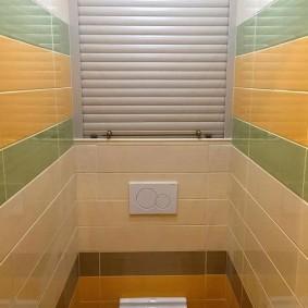 Красивая плитка в небольшом туалете