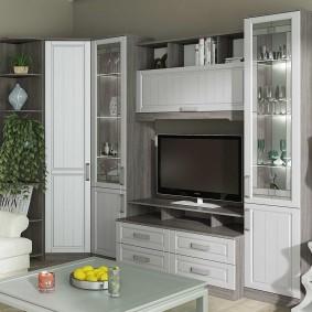 Мебельная стенка со шкафом углового типа