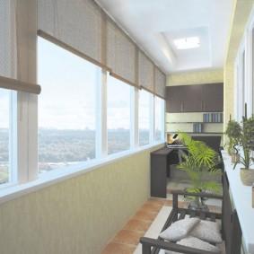 Дизайн лоджии с теплыми окнами
