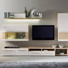 Мебельный гарнитур с подвесными модулями