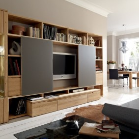 Мебельная стенка с местом для телевизора