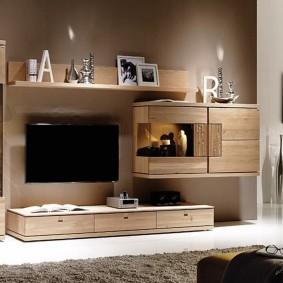 Модульная мебель из натурального дерева
