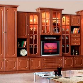 Декоративная подсветка шкафов для хранения посуды