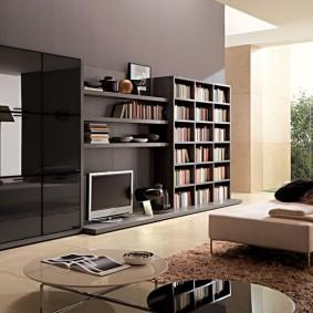 Мебельная стенка со шкафом для книг