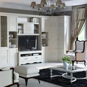 Белая мебель из недорогого ДСП