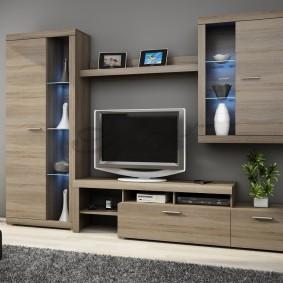 Компактная мебель в гостиную небольшого размера