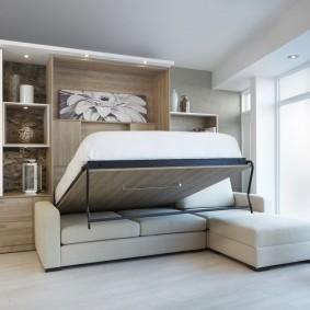 Стенка-трансформер с откидной кроватью