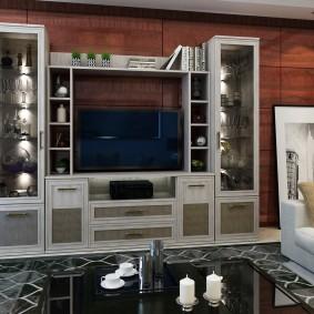 Интерьер гостиной комнаты с красивой мебелью