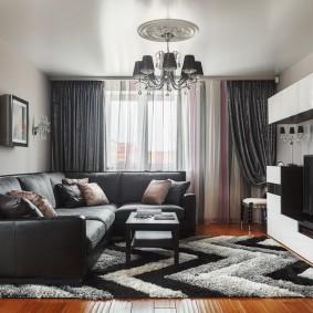 Кожаный диван угловой конфигурации