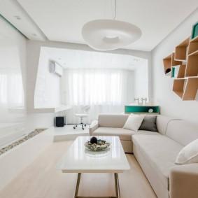 Современная гостиная в стиле хай-тек