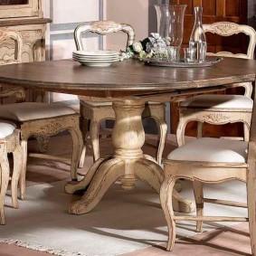 Состаренная мебель для гостиной в стиле прованс