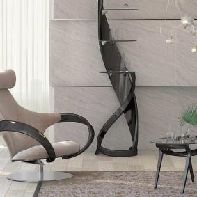 Стул=кресло для гостиной в современном стиле