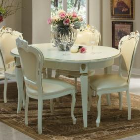 Мебель для обеденной зоны гостиной комнаты