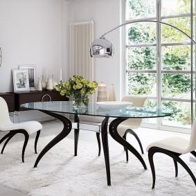 Изящная модель обеденного стола для гостиной