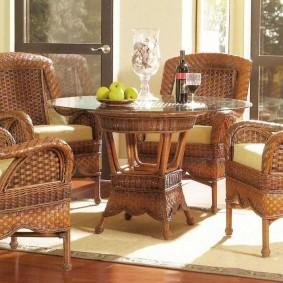 Плетенная мебель из натурального ротанга
