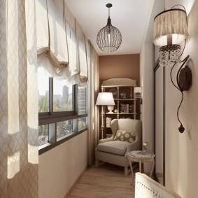 Выбор светильников для застекленного балкона