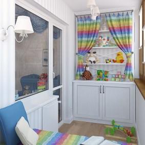 Детская комната на теплой лоджии