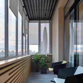 Дизайн балконного пространства после утепления