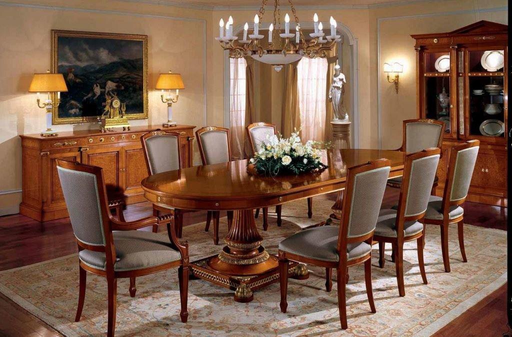 Размещение стульев в гостиной классического стиля