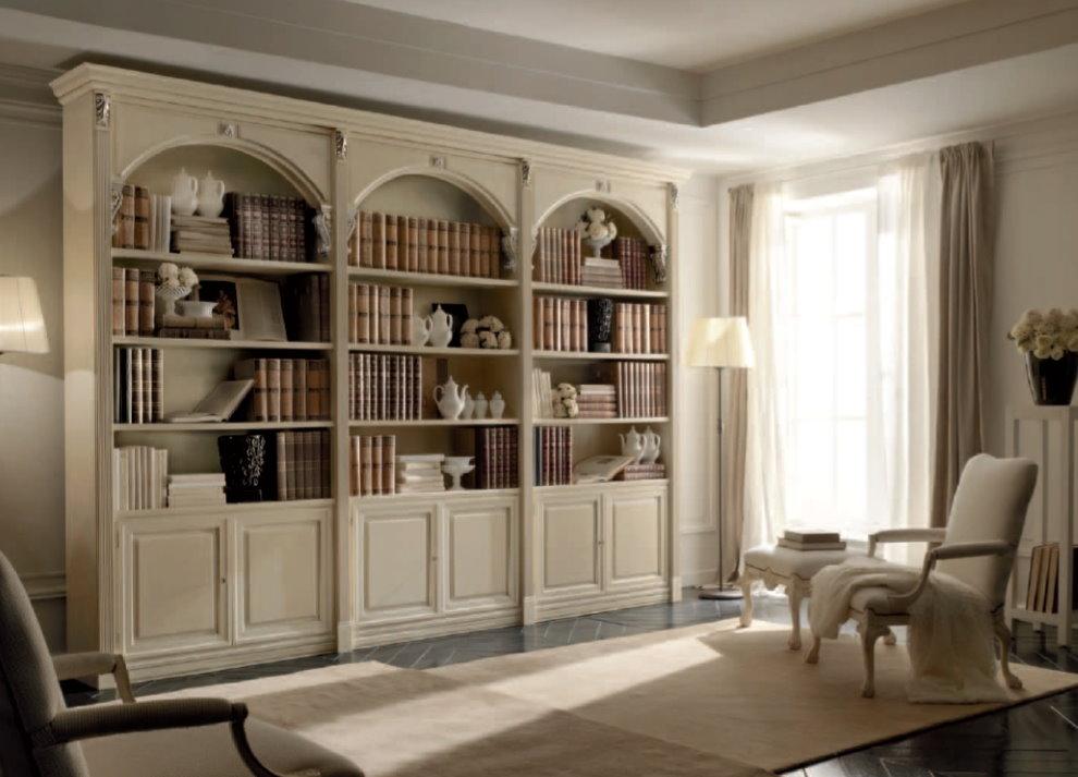 Книжные шкафы в стиле классика