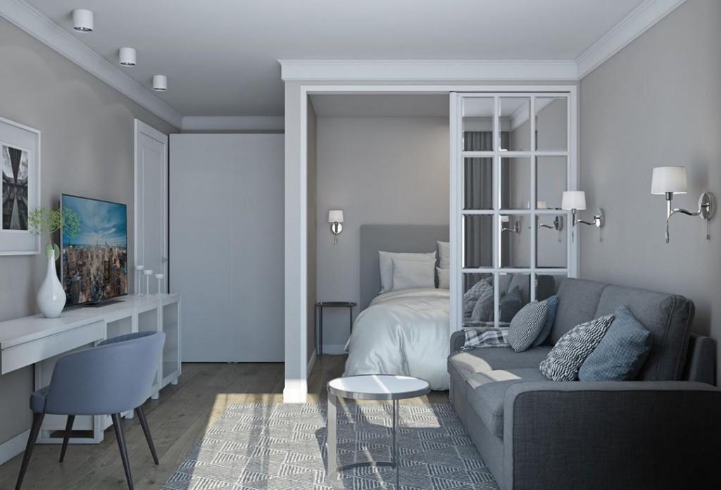 Дизайн комнаты в однокомнатной квартире площадью 14 кв м
