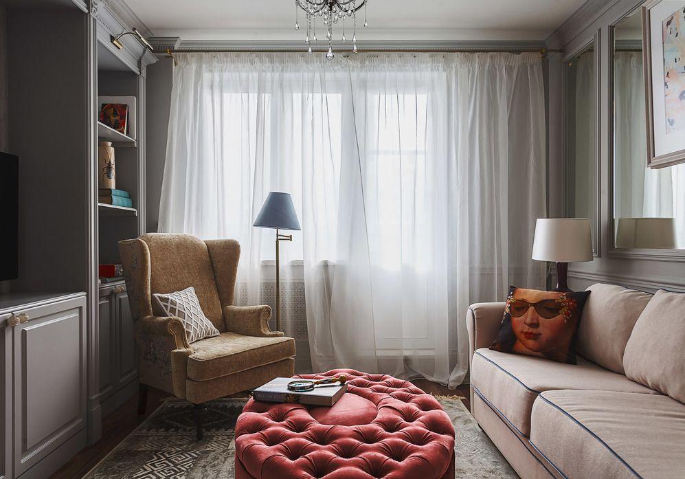 Место для дивана в гостиной маленькой площади