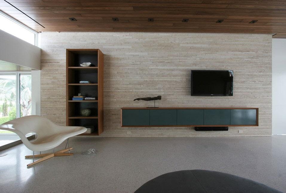 Деревянная мебель для гостиной минималистического стиля