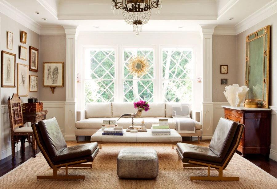 Размещение мягкой мебели в квадратной гостиной