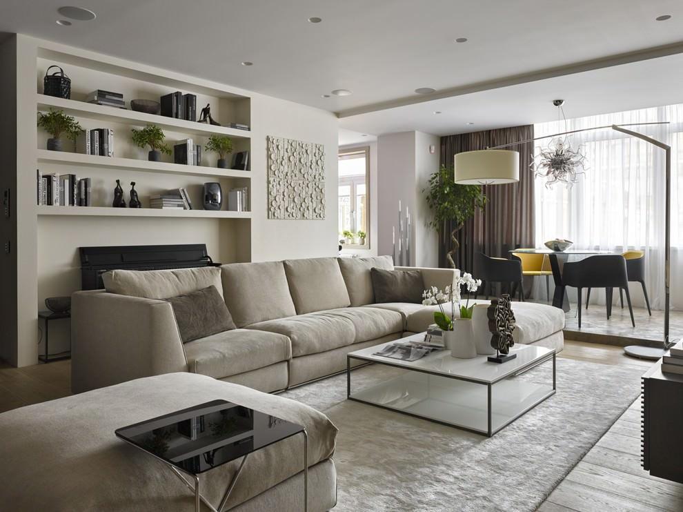 Расстановка мебели в мягкой зоне гостиной