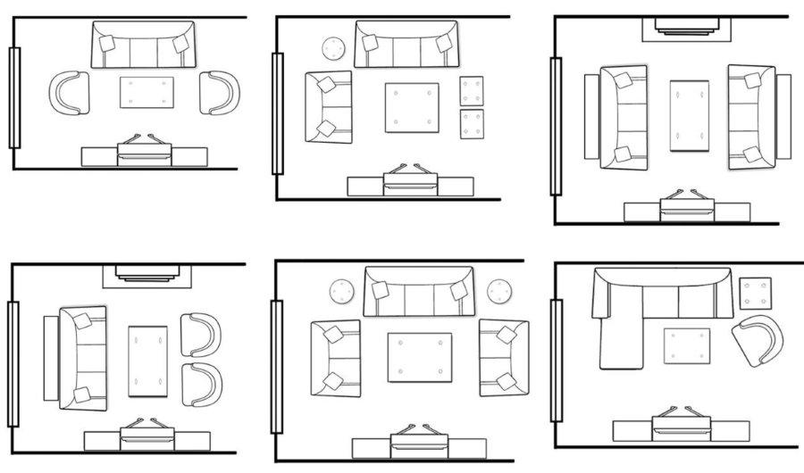 План грамотной расстановки мебели в гостиной