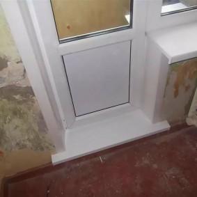 Отделка балконного порога своими руками