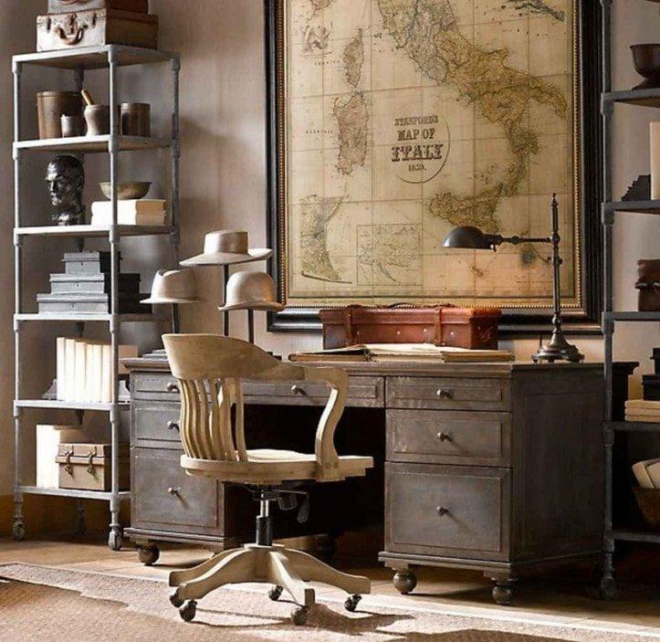 Письменный стол в ретро стиле