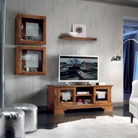 Навесные шкафчики с рамочными фасадами