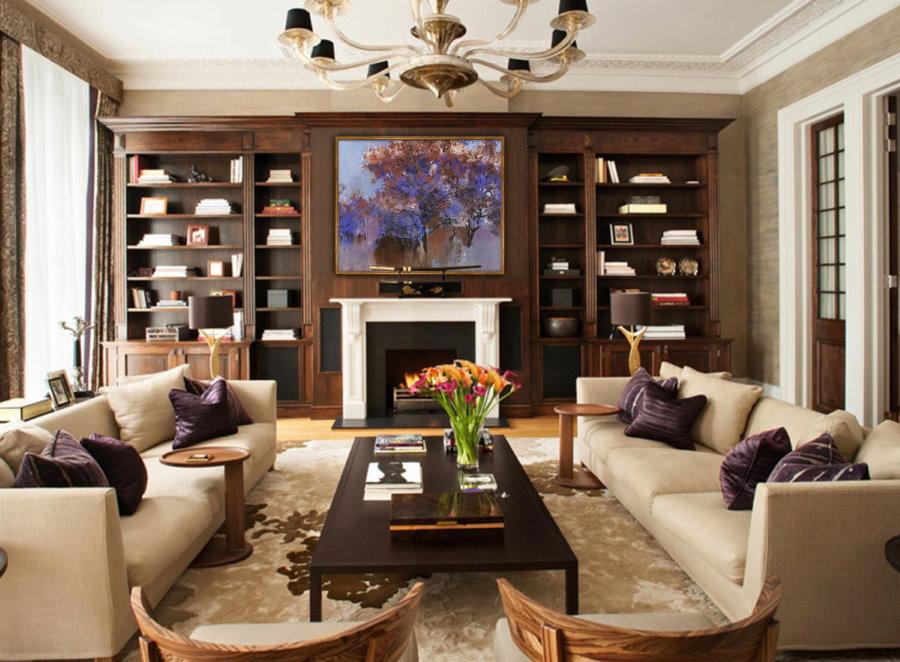 Удобная расстановка мягкой мебели в зоне отдыха гостиной