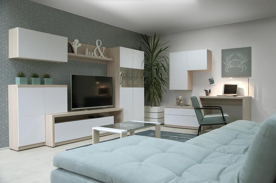 Модульная мебель с белыми фасадами