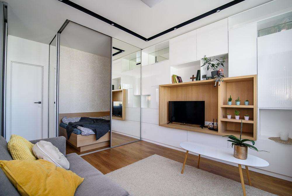 Расстановка мебели в маленькой квартире студии
