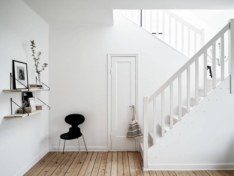 Отделка стен покраской в стиле минимализма