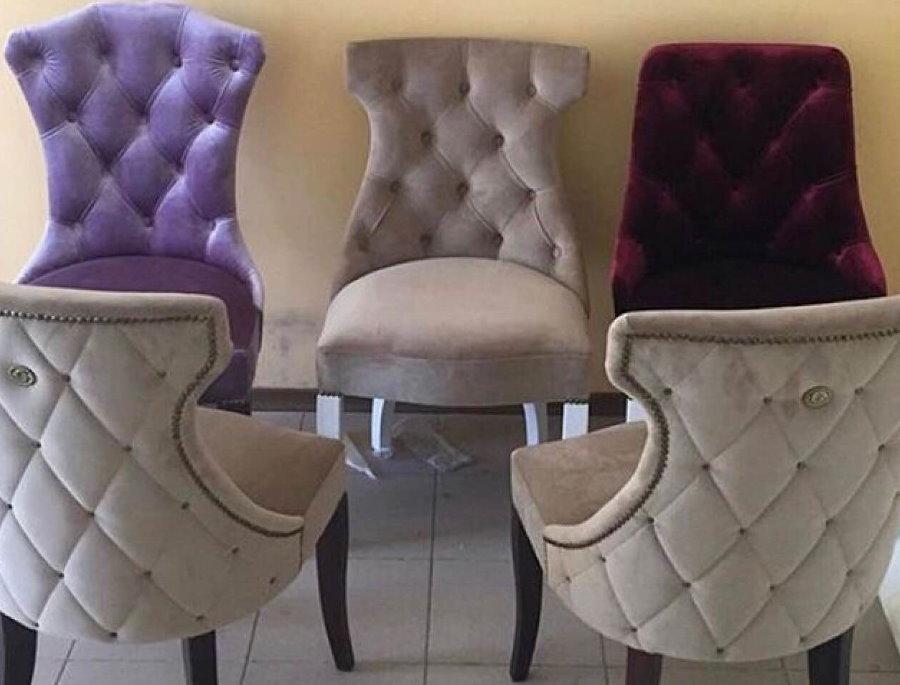 Велюровые стулья с удобными спинками