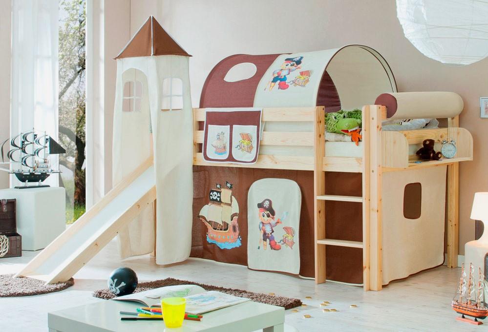 Детская комната с игровой кроватью-чердаком