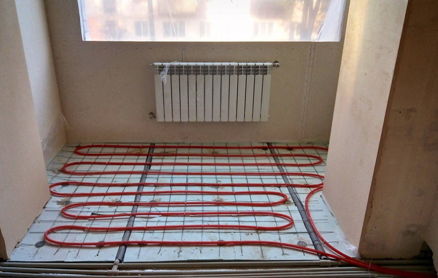Устройство теплого водяного пола на балконе