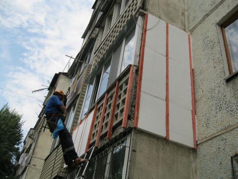 Наружное утепление балкона полистиролом